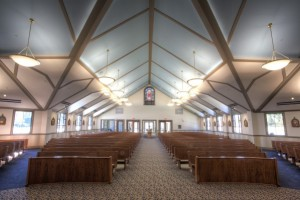 church center aisle