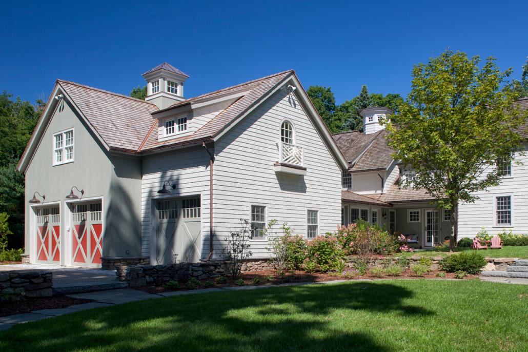 Antique Colonial Doyle Coffin Architecture Ridgefield Ct